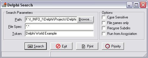 Поиск в отдельном потоке фразы в файлах - Delphi Sources FAQ