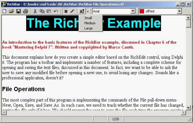 Delphi Sources - The ToolBar Control - English Delphi Programming Guide